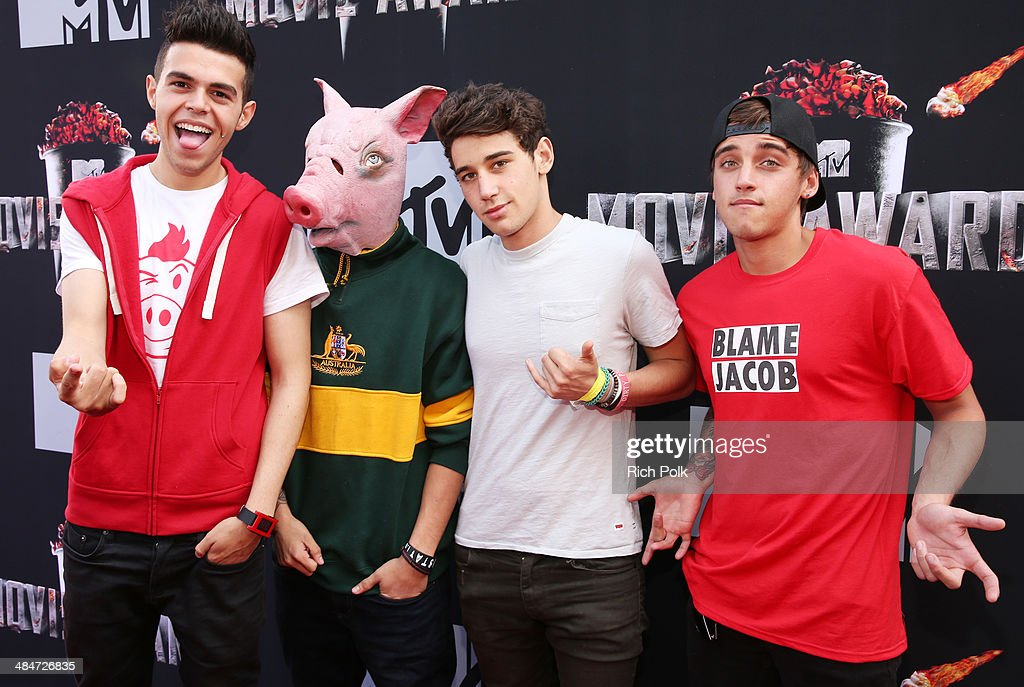 Comedians The Janoskians attend the 2014 MTV Movie Awards at Nokia Theatre L.A. Live on April 13, 2014 in Los Angeles, California.