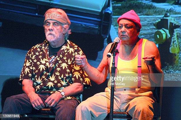 Comedians Tommy Chong and Cheech Marin perform live for their first tour in over 25 years on September 12 2008 at the Tower Theater in Upper Darby...