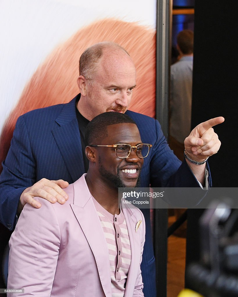 Comedians/actors Louis C.K.(L) and Kevin Hart pose for a picture at 'The Secret Life Of Pets' New York Premiere at David H. Koch Theater at Lincoln Center on June 25, 2016 in New York City.