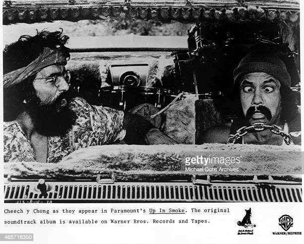 ComediansTommy Chong and Cheech Marin in a scene from the movie 'Up In Smoke' which was released in September 1978