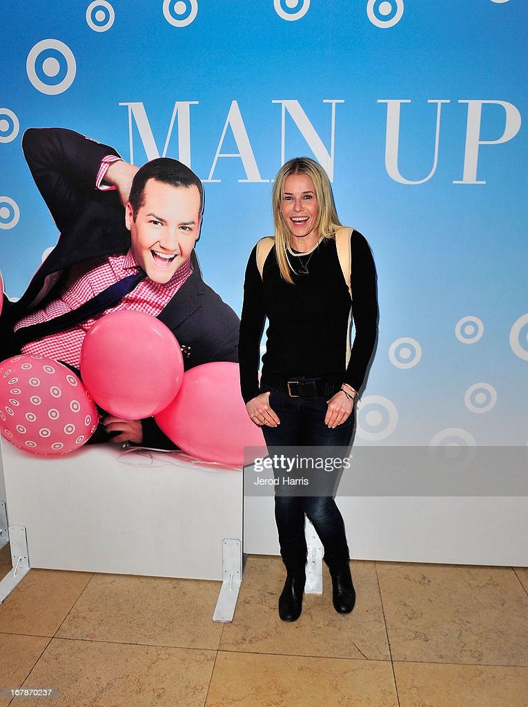 Comedian/TV personality Chelsea Handler at 'Roast and Toast with Ross Mathews' hosted by Target to celebrate the launch of Mathews' book 'Man Up!' at Sunset Tower on May 1, 2013 in West Hollywood, California.