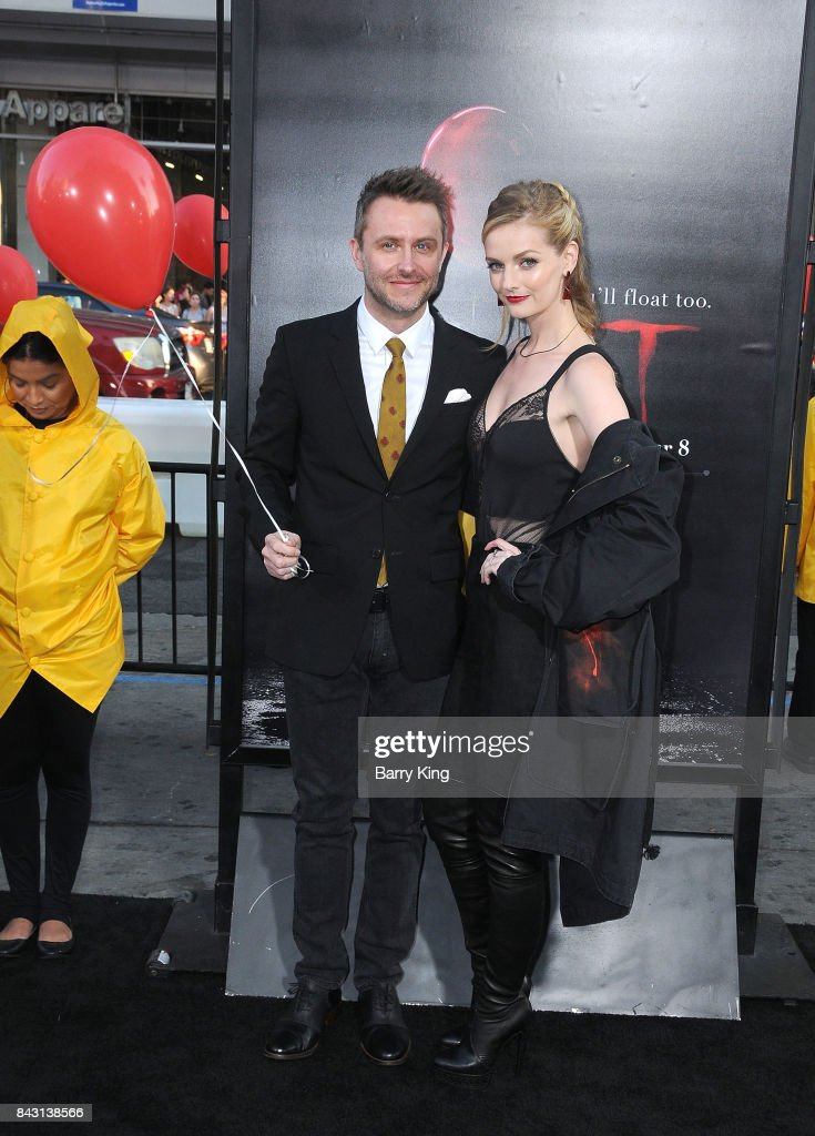 Comedian/tv personality Chris Hardwick and model/actress Lydia Hearst attend the premiere of Warner Bros. Pictures and New Line Cinemas' 'It' at TCL Chinese Theatre on September 5, 2017 in Hollywood, California.
