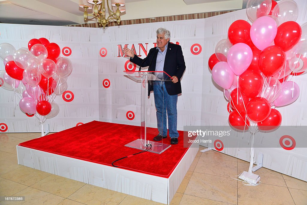 Comedian/TV personality Jay Leno at 'Roast and Toast with Ross Mathews' hosted by Target to celebrate the launch of Mathews' book 'Man Up!' at Sunset Tower on May 1, 2013 in West Hollywood, California.