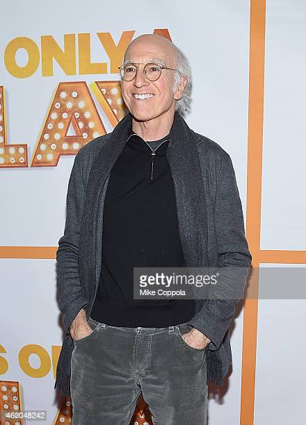 Comedian/writer Larry David attends 'It's Only A Play' Broadway ReOpening Night at The Bernard B Jacobs Theatre on January 23 2015 in New York City