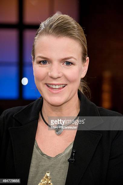 Comedienne and actress Mirja Boes attends the 'Koelner Treff' TV Show at the WDR Studio on May 30 2014 in Cologne Germany