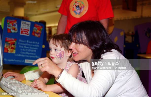 Comedienne and author Arabella Weir and her two year old daughter Isabella appearing at the 'Winnie the Pooh Friendship Celebration' at Selfridges...