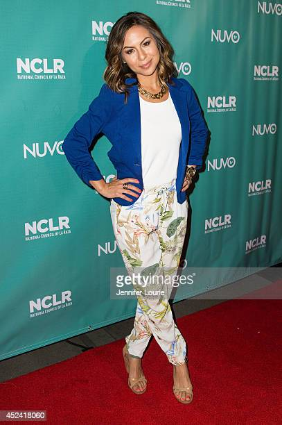 Comedienne Anjelah Johnson arrives at the National Council of La Raza exclusive night of comedy at the Los Angeles Convention Center on July 19 2014...