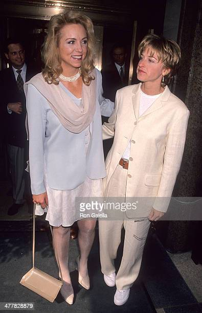 Comedienne Brett Butler and comedienne Ellen DeGeneres for Tavern on the Green for the ABC Sponsors Meeting on May 10 1994 at the Westbury Hotel in...
