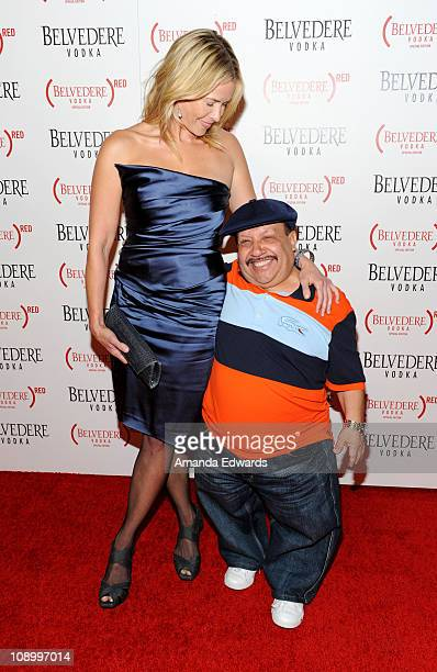 Comedienne Chelsea Handler and her sidekick Chewy arrive at the Belvedere Vodka Launch Party For Special Edition Bottle at Avalon on February 10 2011...