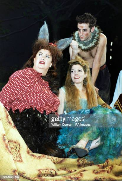 Comedienne Dawn French playing Bottom with Jemma Redgrave playing Titania in the forthcoming production of A Midsummer Night's Dream at the Albery...
