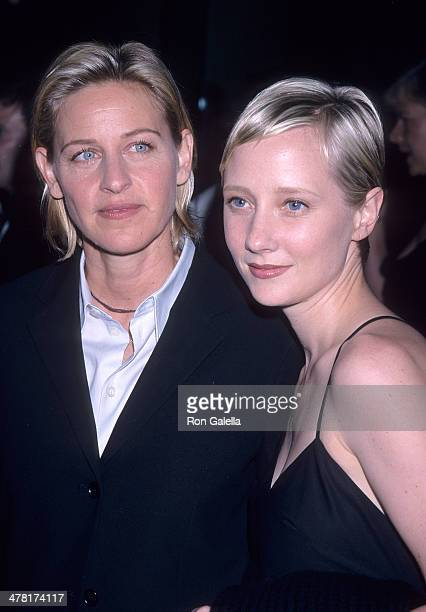 Comedienne Ellen DeGeneres and actress Anne Heche attend ANGLE's 'Housecleaning 2000' Fundraiser Dinner for the Democratic Congressional Campaign...