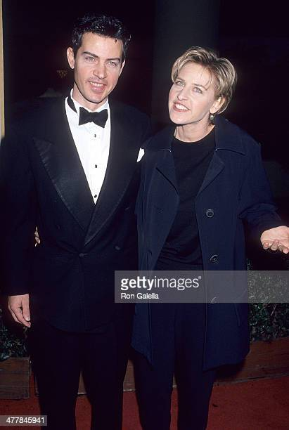 Comedienne Ellen DeGeneres and brother Vance attend the 52nd Annual Golden Globe Awards on January 21 1995 at the Beverly Hilton Hotel in Beverly...