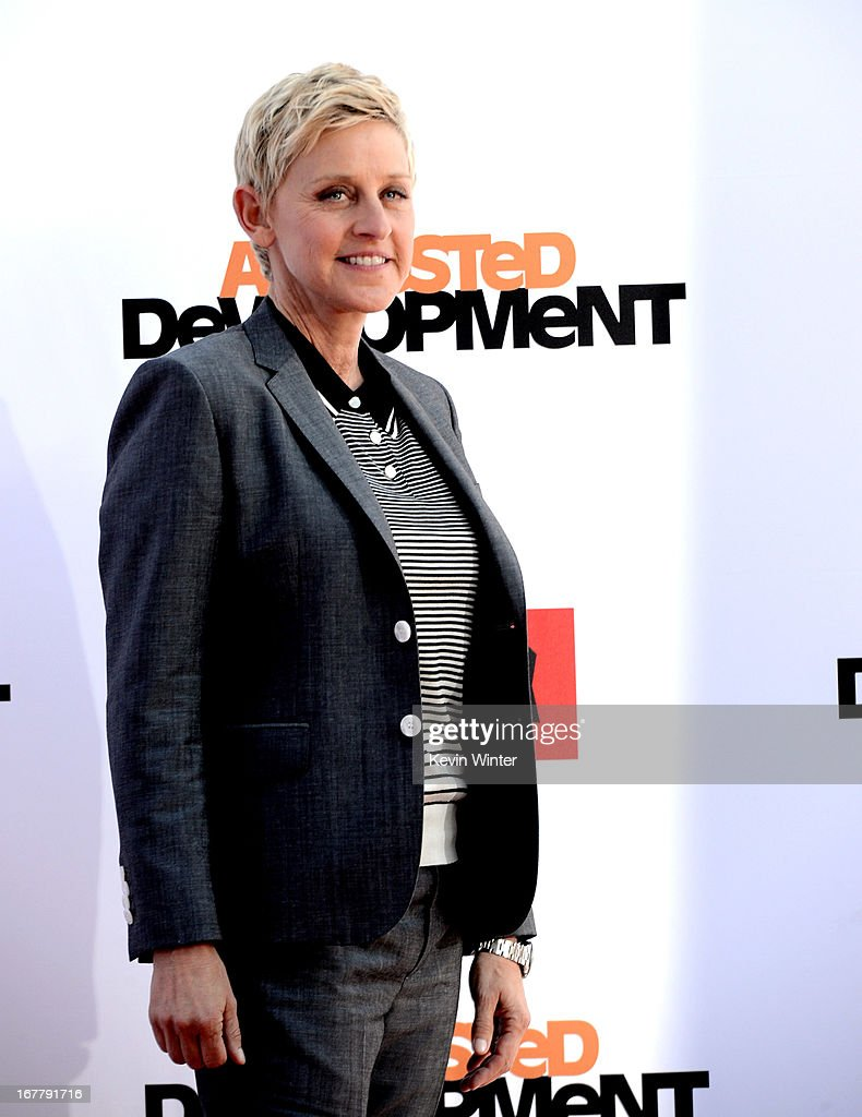 Comedienne Ellen Degeneres arrives at the premiere of Netflix's 'Arrested Development' Season 4 at the Chinese Theatre on April 29, 2013 in Los Angeles, California.