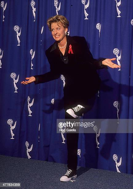 Comedienne Ellen DeGeneres attends the 46th Annual Primetime Emmy Awards on September 11 1994 at the Pasadena Civic Auditorium in Pasadena California