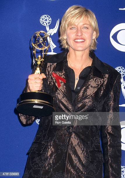 Comedienne Ellen DeGeneres attends the 49th Annual Primetime Emmy Awards on September 14 1997 at the Pasadena Civic Auditorium in Pasadena California