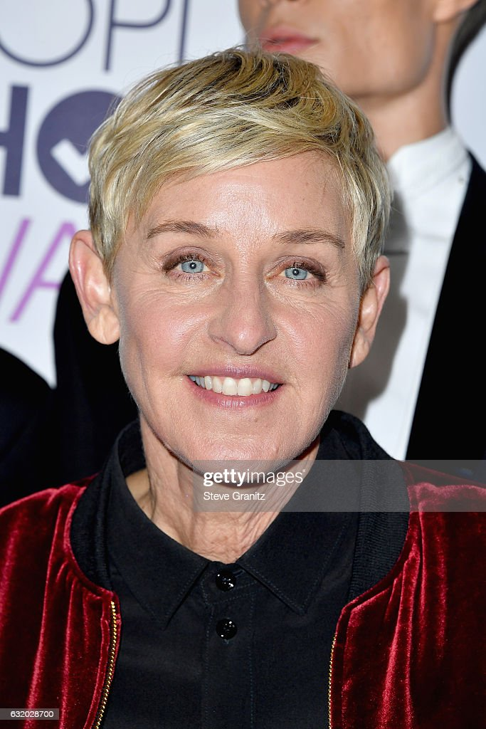Comedienne Ellen DeGeneres, winner of a record-setting 20 career People's Choice Awards, poses in the press room during the People's Choice Awards 2017 at Microsoft Theater on January 18, 2017 in Los Angeles, California.