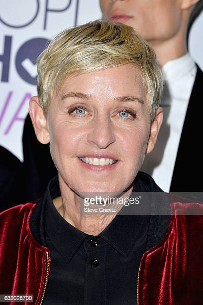 Comedienne Ellen DeGeneres winner of a recordsetting 20 career People's Choice Awards poses in the press room during the People's Choice Awards 2017...