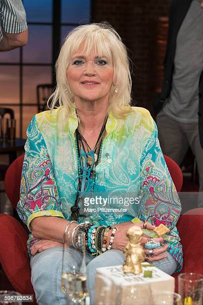 Comedienne Gaby Koester attends the 'Koelner Treff' TV Show at the WDR Studio on September 2 2016 in Cologne Germany