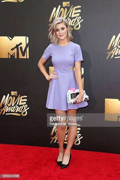 Comedienne Grace Helbig attends the 2016 MTV Movie Awards at Warner Bros Studios on April 9 2016 in Burbank California MTV Movie Awards airs April 10...
