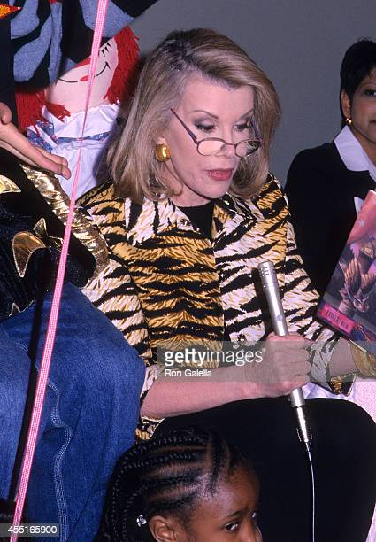 Comedienne Joan Rivers attends 'A Magical Afternoon' Celebrities Read to Children to Benefit Literacy Partners on February 13 2000 at Christie's in...