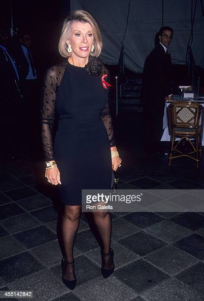 Comedienne Joan Rivers attends the Celebrity Auction to Benefit the Actors' Fund of America on November 29 1993 at the WaldorfAstoria Hotel in New...