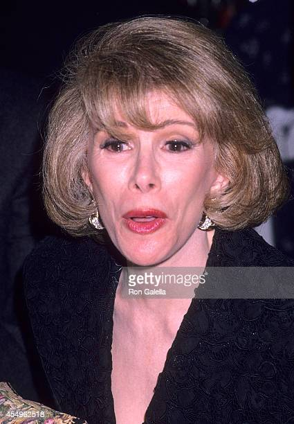 Comedienne Joan Rivers attends the New Museum of Contemporary Art's Benefit Art Auction and Dinner/Dance Gala on May 1 1989 at the Puck Building in...