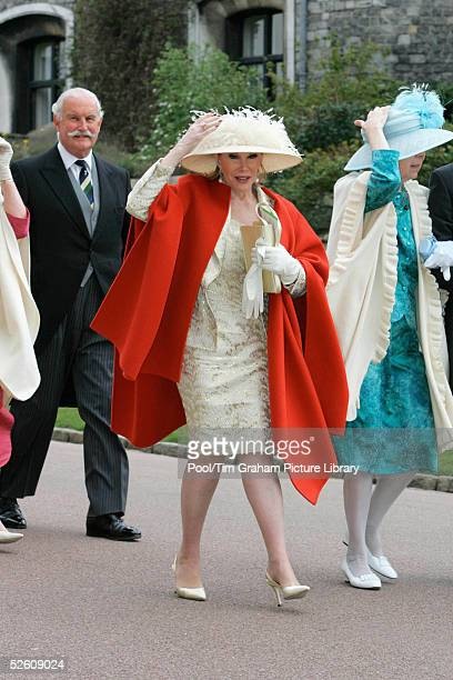 Comedienne Joan Rivers attends the Service of Prayer and Dedication blessing the marriage of TRH the Prince of Wales and The Duchess Of Cornwall...