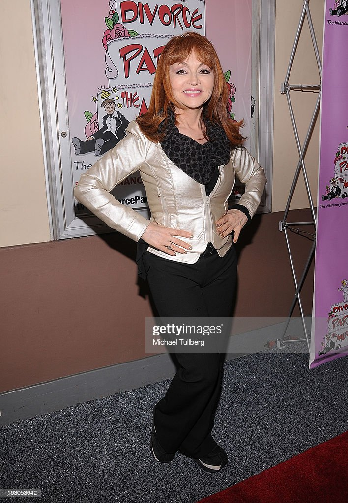 Comedienne Judy Tenuta attends the opening night performance of 'Divorce Party - The Musical' at El Portal Theatre on March 3, 2013 in North Hollywood, California.