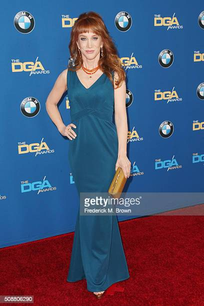 Comedienne Kathy Griffin attends the 68th Annual Directors Guild Of America Awards at the Hyatt Regency Century Plaza on February 6 2016 in Los...