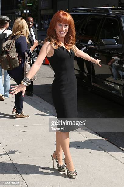 Comedienne Kathy Griffin departs 'Late Show with David Letterman' at Ed Sullivan Theater on August 20 2014 in New York City