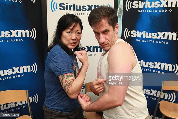 Comedienne Margaret Cho and SiriusXM host Seth Rudetsky visit SiriusXM Studio for a taping of 'Seth Speaks' on SiriusXM's 'On Broadway' channel on...