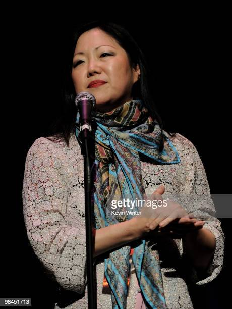 Comedienne Margaret Cho appears onstage at Help Haiti with George Lopez Friends at LA Live's Nokia Theater on February 4 2010 in Los Angeles...