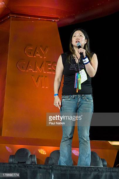 Comedienne Margaret Cho at the opening of the Seventh Gay Games held at Soldier Field Chicago Illinois July 15 2006