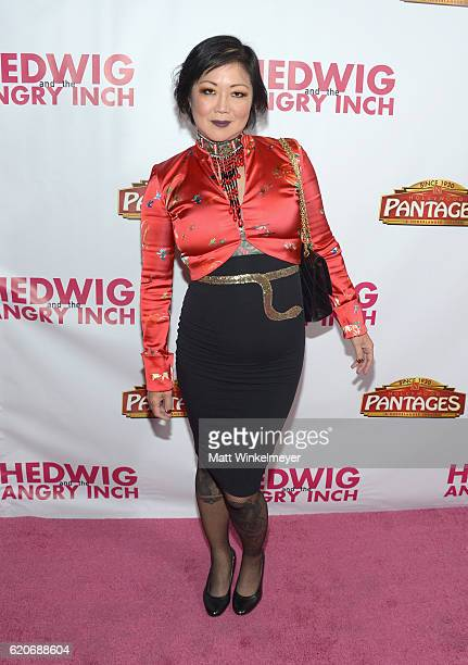 Comedienne Margaret Cho attends the opening night of 'Hedwig And The Angry Inch' at the Pantages Theatre on November 2 2016 in Hollywood California