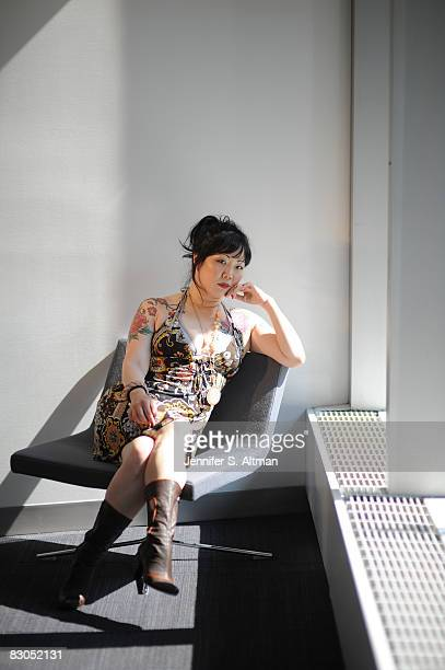 Comedienne Margaret Cho is photographed for the Los Angeles Times at the VH1 offices