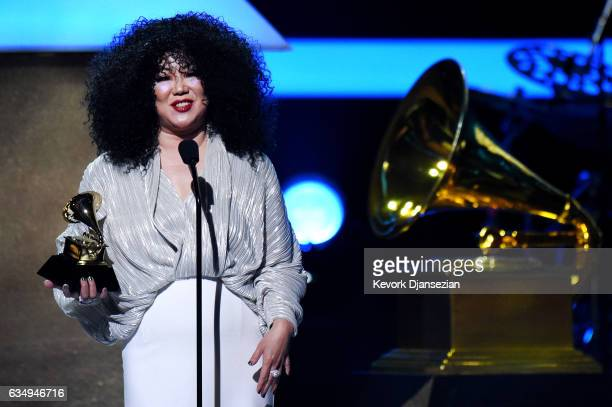 Comedienne Margaret Cho speaks onstage during during at the Premiere Ceremony during The 59th GRAMMY Awards at Microsoft Theater on February 12 2017...