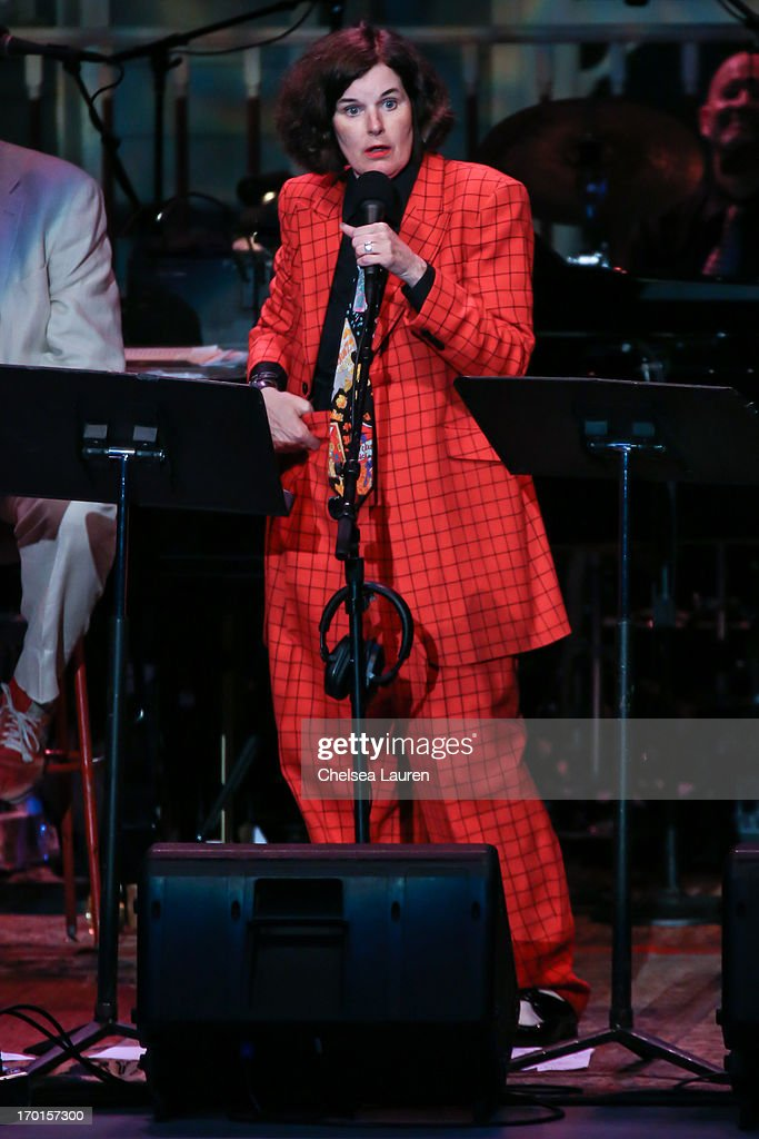 Comedienne <a gi-track='captionPersonalityLinkClicked' href=/galleries/search?phrase=Paula+Poundstone&family=editorial&specificpeople=1018199 ng-click='$event.stopPropagation()'>Paula Poundstone</a> performs during A Prairie Home Companion taping at The Greek Theatre on June 7, 2013 in Los Angeles, California.