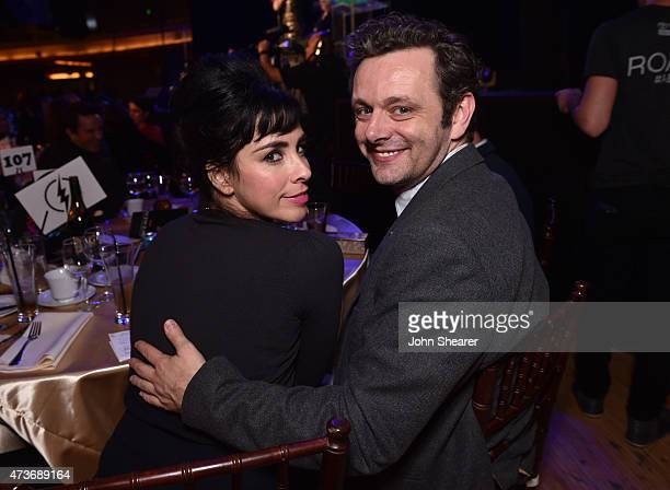 Comedienne Sarah Silverman and actor Michael Sheen attend An Evening with Women benefiting the Los Angeles LGBT Center at the Hollywood Palladium on...