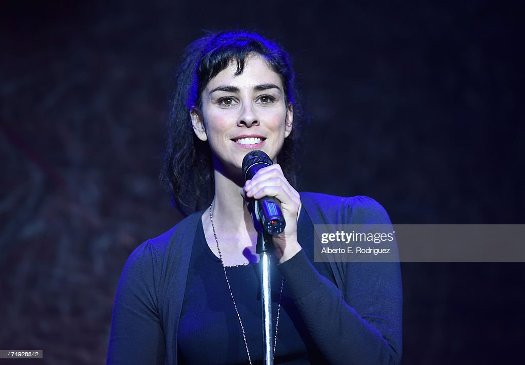 Comedienne <a gi-track='captionPersonalityLinkClicked' href=/galleries/search?phrase=Sarah+Silverman&family=editorial&specificpeople=241299 ng-click='$event.stopPropagation()'>Sarah Silverman</a> attends The Alliance For Children's Rights' Right To Laugh Benefit at The Avalon on May 27, 2015 in Hollywood, California.