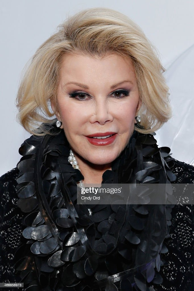 Comedienne/ TV personality <a gi-track='captionPersonalityLinkClicked' href=/galleries/search?phrase=Joan+Rivers&family=editorial&specificpeople=159403 ng-click='$event.stopPropagation()'>Joan Rivers</a> attends the Elie Tahari presentation during Mercedes-Benz Fashion Week Fall 2014 on February 11, 2014 in New York City.