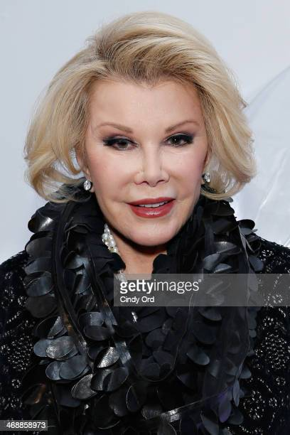 Comedienne/ TV personality Joan Rivers attends the Elie Tahari presentation during MercedesBenz Fashion Week Fall 2014 on February 11 2014 in New...