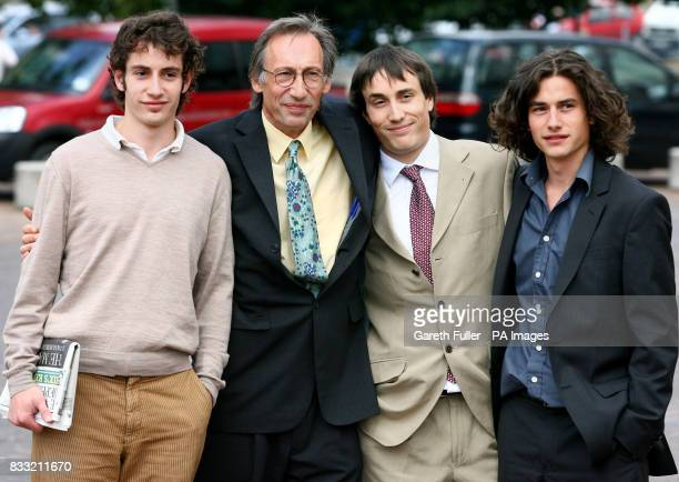 Comedy actor and writer Chris Langham arrives at Maidstone Crown Court in Kent accompanied by his sons Dafydd JonesDavies Siencyn Langham and Glyn...
