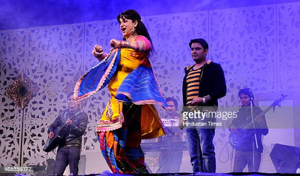 Comedy artist Upasana Singh during an event at GIP Mall in sector 38 A on February 102014 in Noida India
