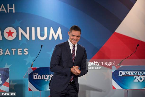 Comedy Central's 'The Daily Show with Trevor Noah' Presents 'Podium Pandemonium A Debate About Debates' New Hampshire Primary 2016 offair event...