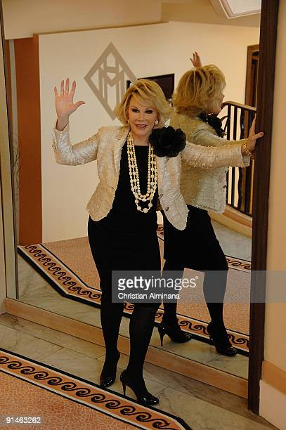 Comedy icon Joan Rivers attends a photocall for 'Roast' at Martinez Hotel during the 25th MIPCOM on October 5 2009 in Cannes France