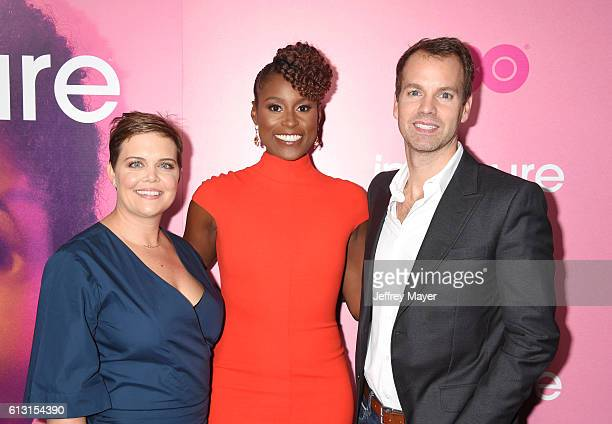 EVP HBO Comedy Programming Amy Gravitt creator/executive producer/actress Issa Rae and President of Programming for HBO Casey Bloys attend the...