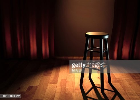 comedy stage 3d illustration : Stock Photo