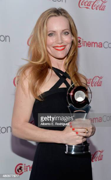 Comedy Star of the Year award winner Leslie Mann attends The CinemaCon Big Screen Achievement Awards brought to you by The CocaCola Company during...
