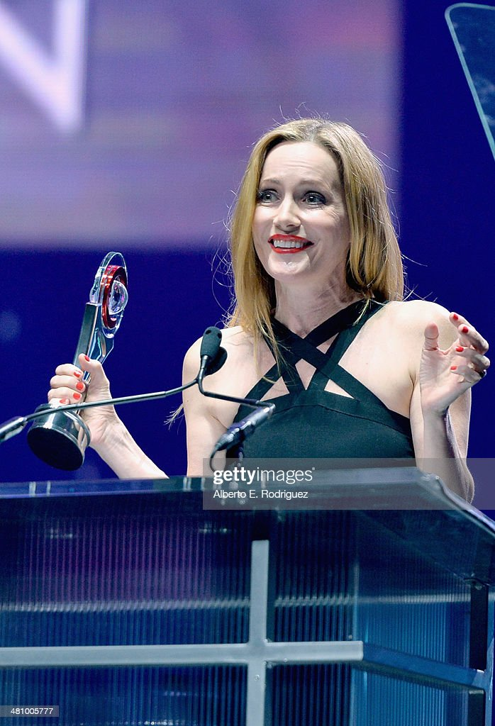 Comedy Star of the Year award winner <a gi-track='captionPersonalityLinkClicked' href=/galleries/search?phrase=Leslie+Mann&family=editorial&specificpeople=595973 ng-click='$event.stopPropagation()'>Leslie Mann</a> speaks onstage at The CinemaCon Big Screen Achievement Awards brought to you by The Coca-Cola Company during CinemaCon, the official convention of the National Association of Theatre Owners, at The Colosseum at Caesars Palace on March 27, 2014 in Las Vegas, Nevada.