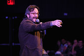 Comeidan Marc Maron performs on stage at The New Yorker Comedy Playlist with Patton Oswalt Todd Barry Marc Maron and Andy Borowitz at the MasterCard...